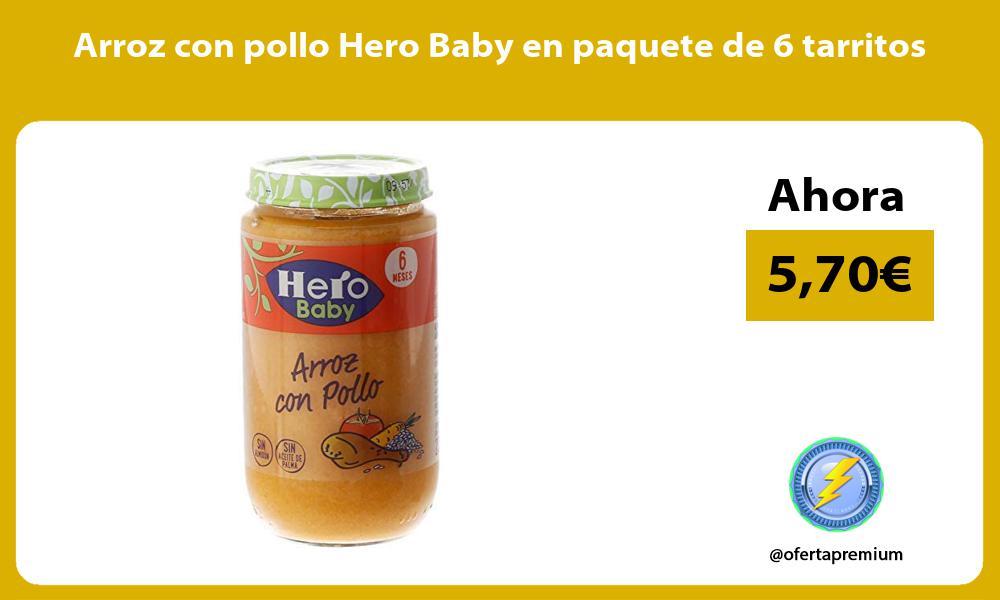 Arroz con pollo Hero Baby en paquete de 6 tarritos