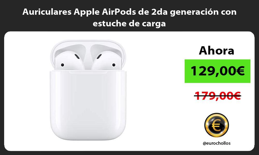 Auriculares Apple AirPods de 2da generación con estuche de carga