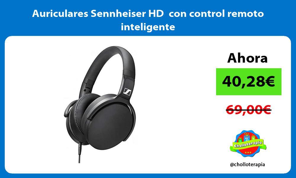 Auriculares Sennheiser HD con control remoto inteligente