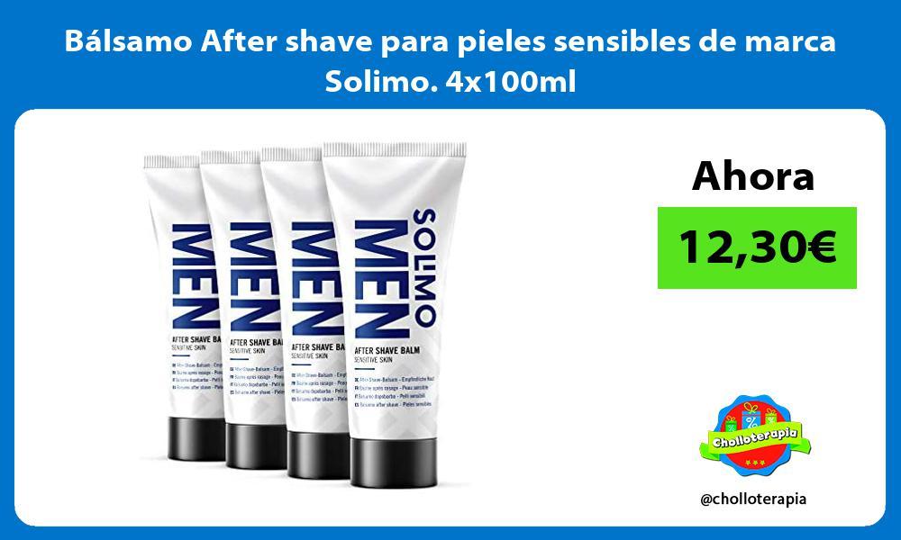 Bálsamo After shave para pieles sensibles de marca Solimo 4x100ml