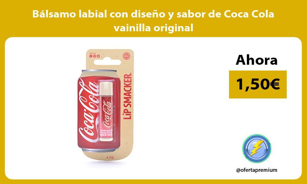 Bálsamo labial con diseño y sabor de Coca Cola vainilla original
