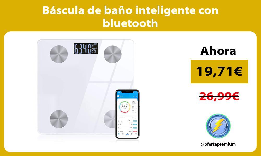 Báscula de baño inteligente con bluetooth
