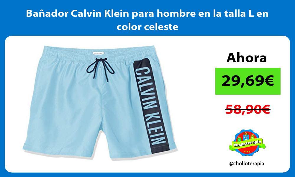 Bañador Calvin Klein para hombre en la talla L en color celeste