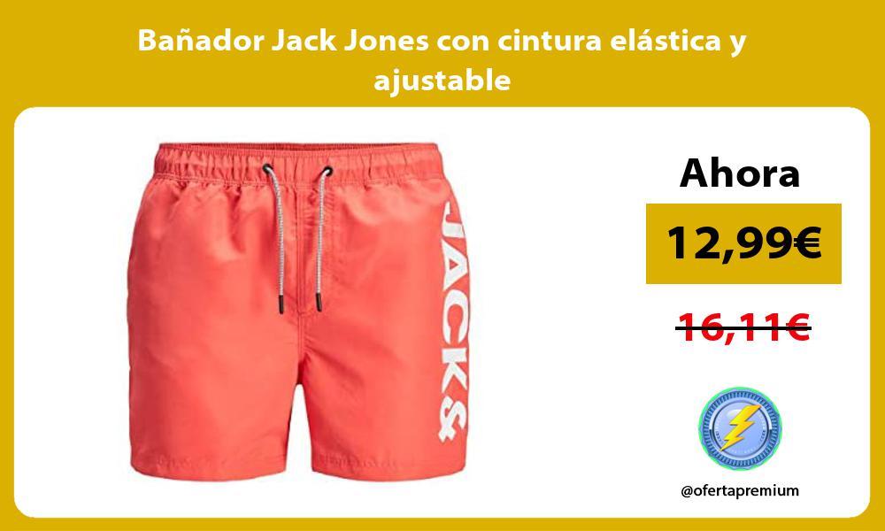 Bañador Jack Jones con cintura elástica y ajustable