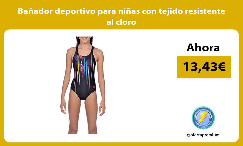 Bañador deportivo para niñas con tejido resistente al cloro