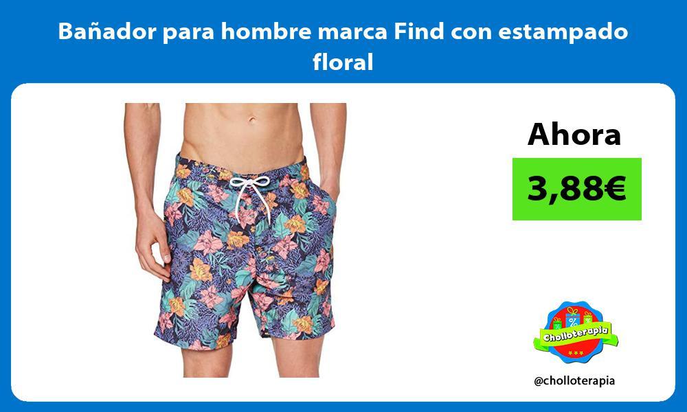 Bañador para hombre marca Find con estampado floral