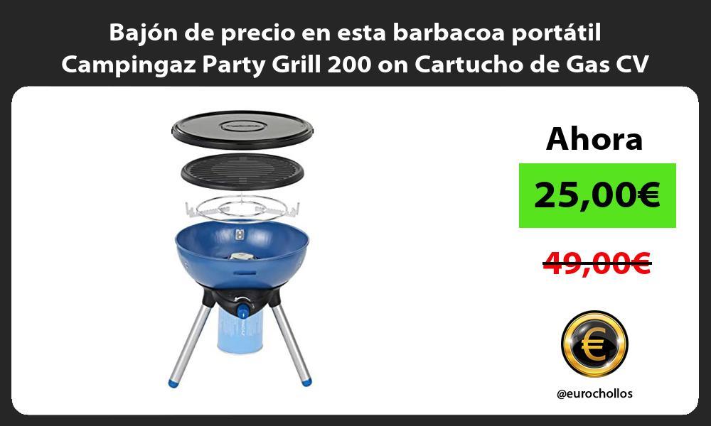 Bajón de precio en esta barbacoa portátil Campingaz Party Grill 200 on Cartucho de Gas CV 470 Plus