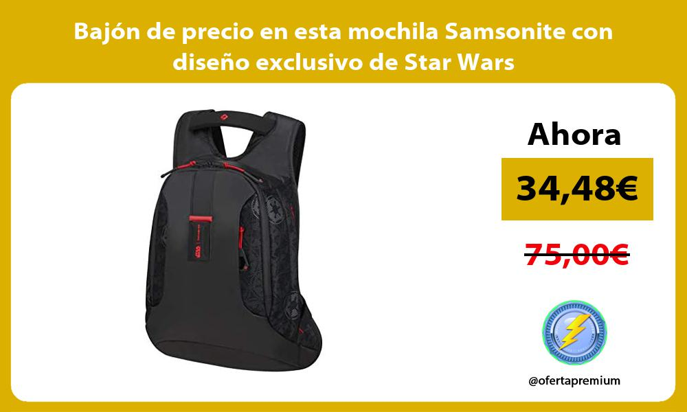 Bajón de precio en esta mochila Samsonite con diseño exclusivo de Star Wars