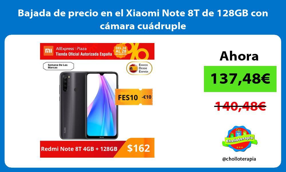 Bajada de precio en el Xiaomi Note 8T de 128GB con cámara cuádruple