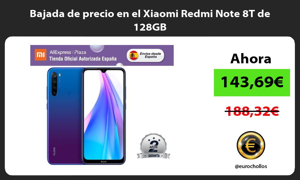 Bajada de precio en el Xiaomi Redmi Note 8T de 128GB