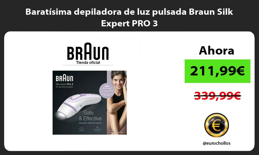 Baratísima depiladora de luz pulsada Braun Silk Expert PRO 3