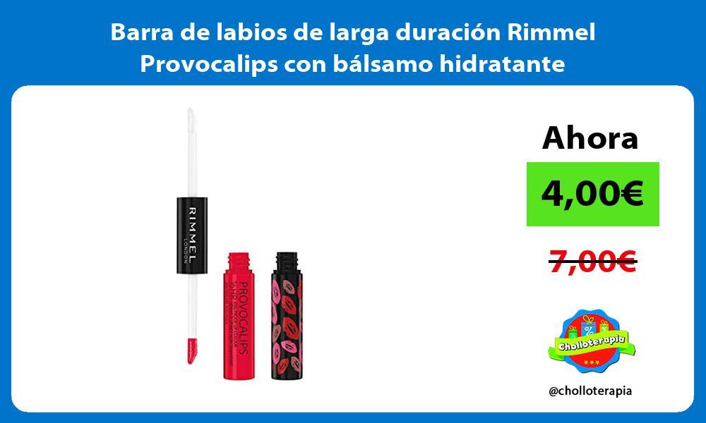 Barra de labios de larga duración Rimmel Provocalips con bálsamo hidratante
