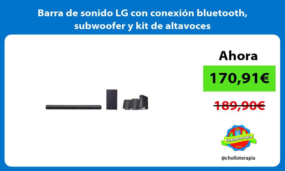 Barra de sonido LG con conexión bluetooth subwoofer y kit de altavoces