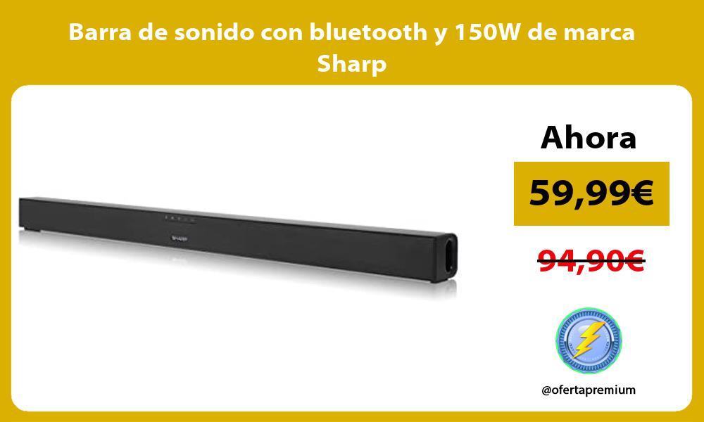 Barra de sonido con bluetooth y 150W de marca Sharp
