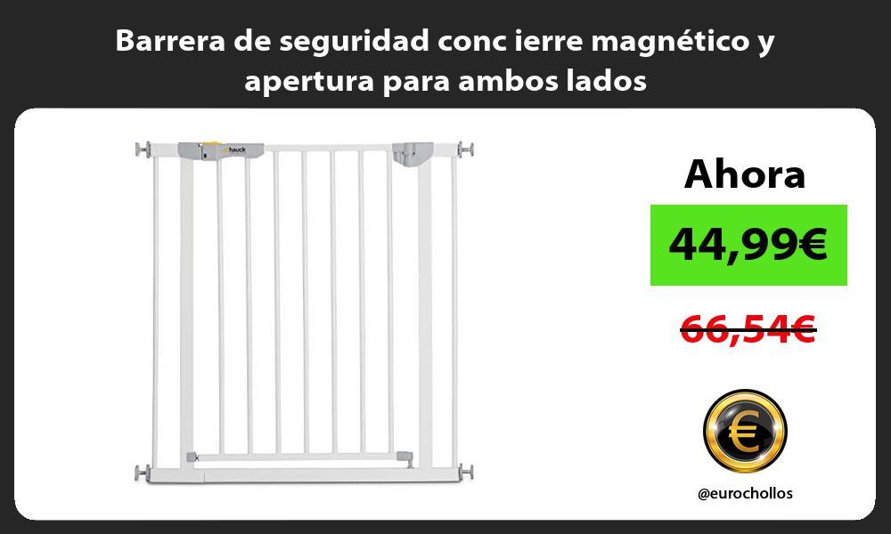 Barrera de seguridad conc ierre magnético y apertura para ambos lados