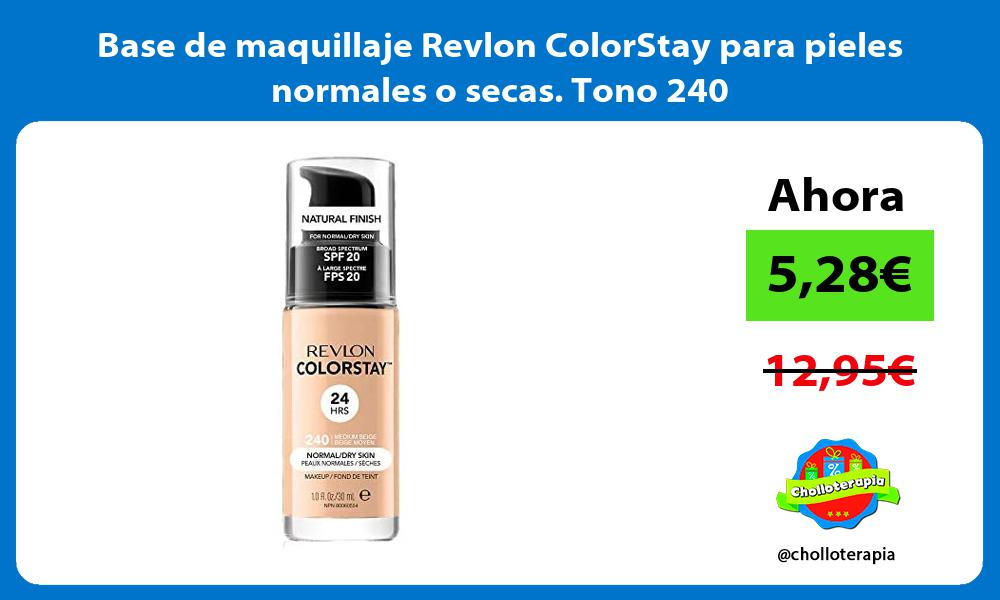 Base de maquillaje Revlon ColorStay para pieles normales o secas Tono 240