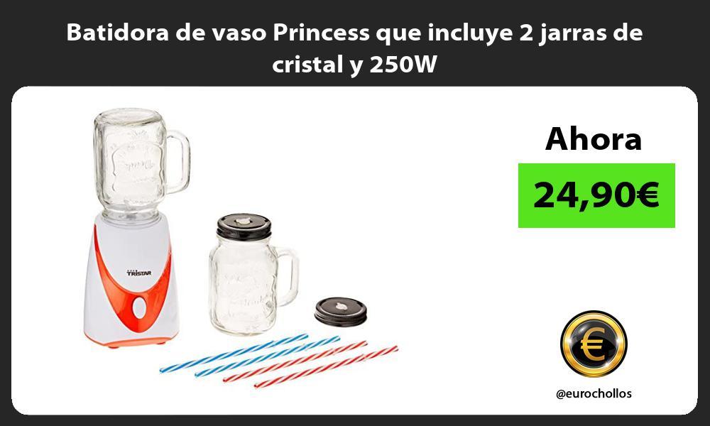 Batidora de vaso Princess que incluye 2 jarras de cristal y 250W