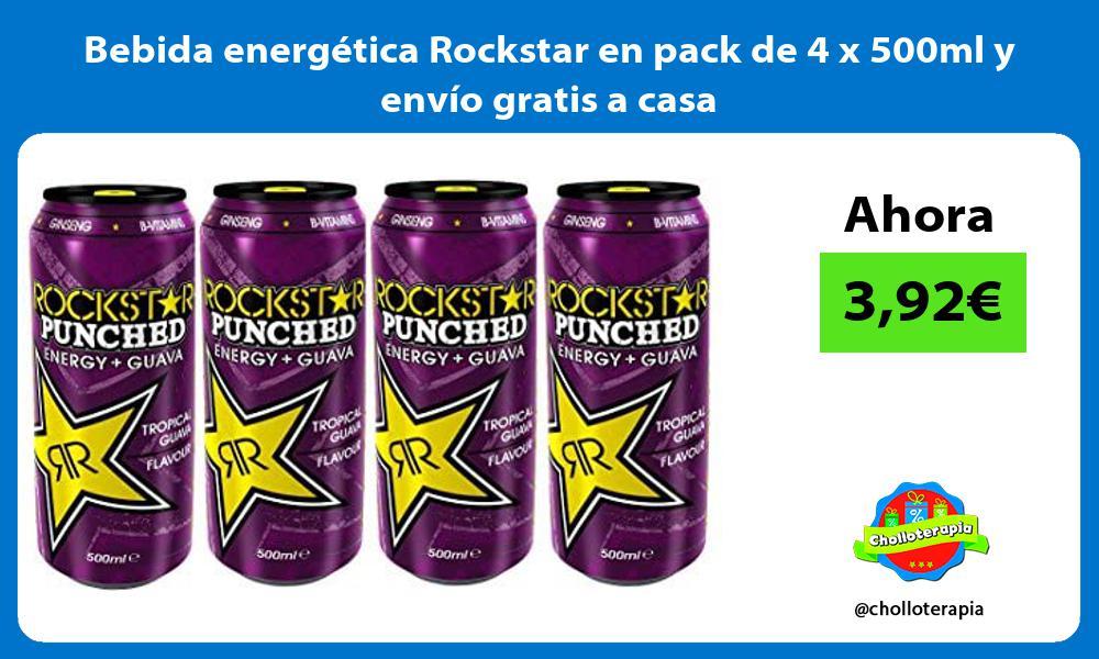 Bebida energética Rockstar en pack de 4 x 500ml y envío gratis a casa