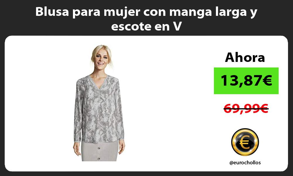 Blusa para mujer con manga larga y escote en V