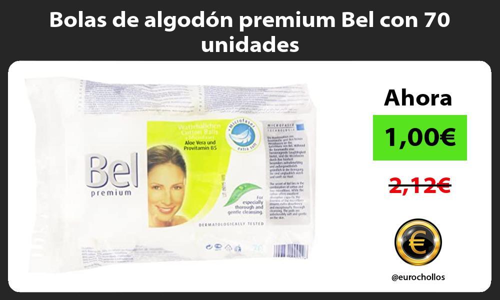 Bolas de algodón premium Bel con 70 unidades