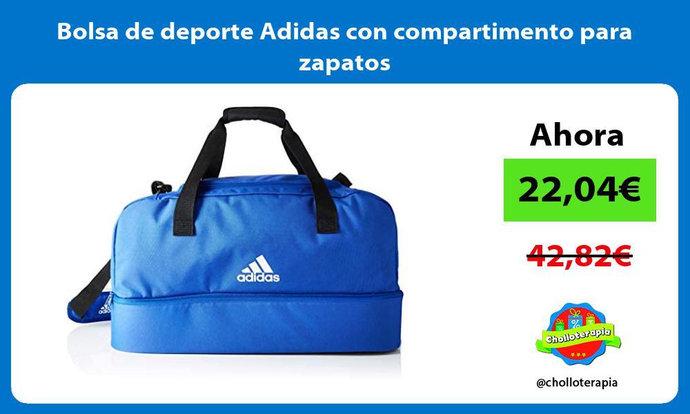 Bolsa de deporte Adidas con compartimento para zapatos