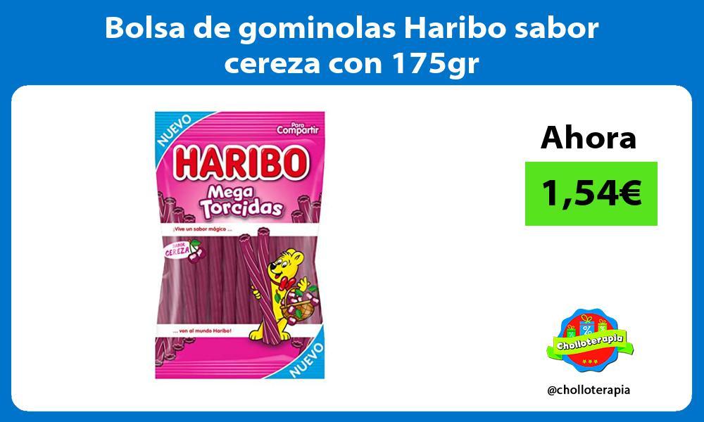 Bolsa de gominolas Haribo sabor cereza con 175gr