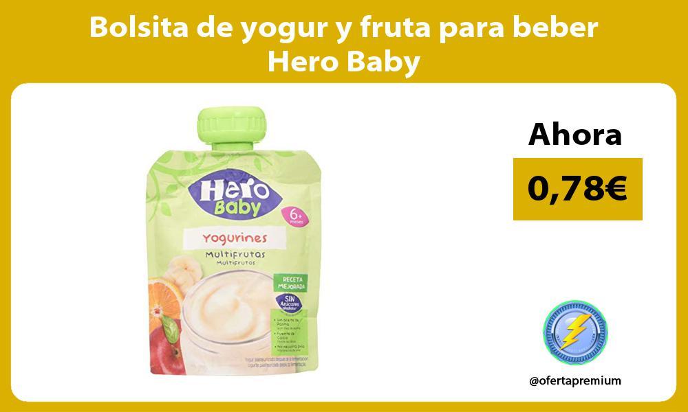 Bolsita de yogur y fruta para beber Hero Baby