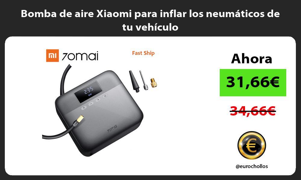 Bomba de aire Xiaomi para inflar los neumáticos de tu vehículo