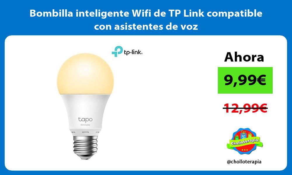 Bombilla inteligente Wifi de TP Link compatible con asistentes de voz