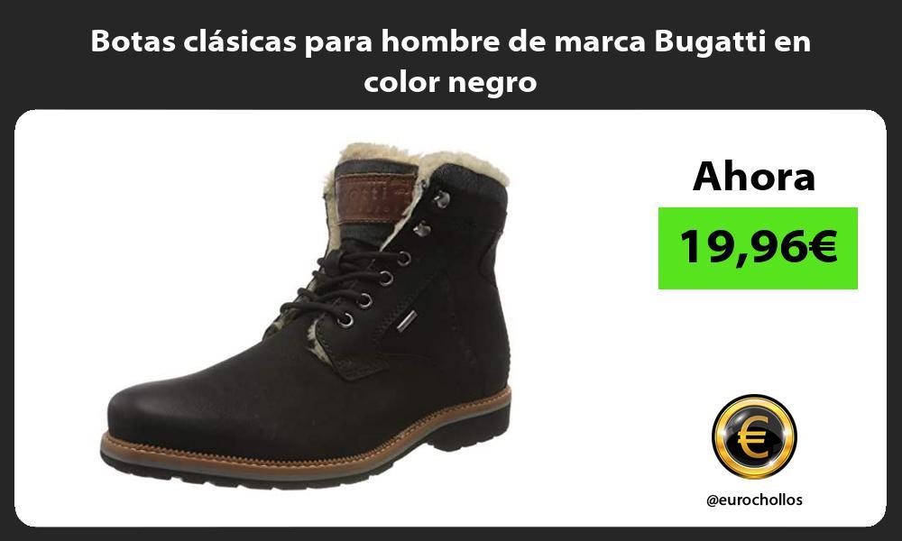 Botas clásicas para hombre de marca Bugatti en color negro