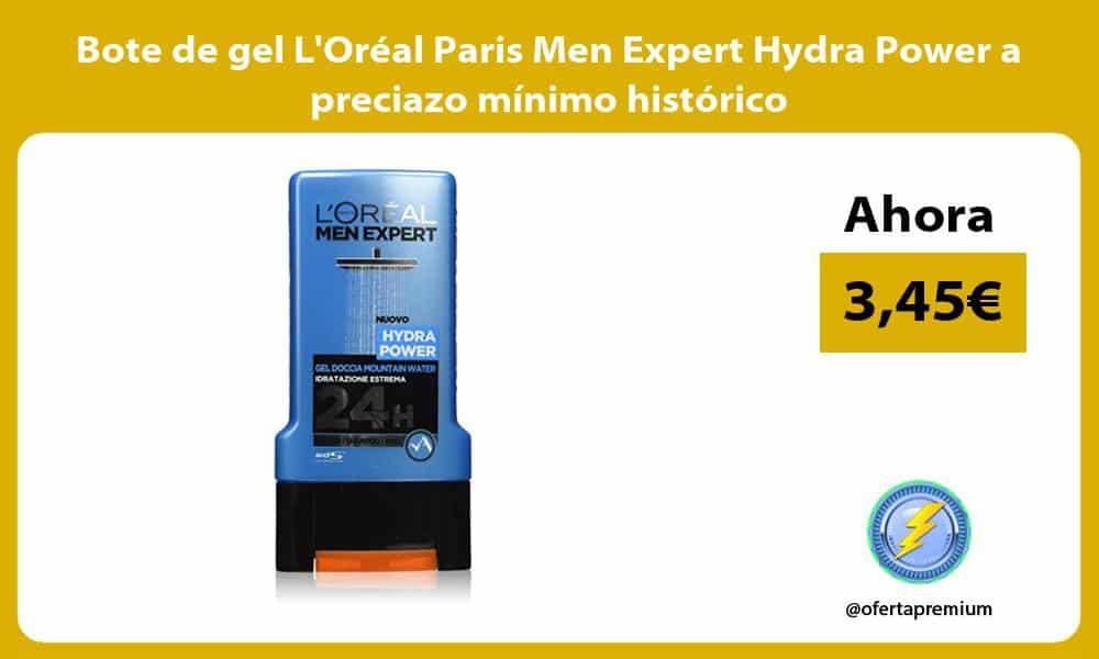 Bote de gel LOréal Paris Men Expert Hydra Power a preciazo mínimo histórico