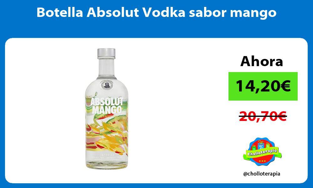 Botella Absolut Vodka sabor mango