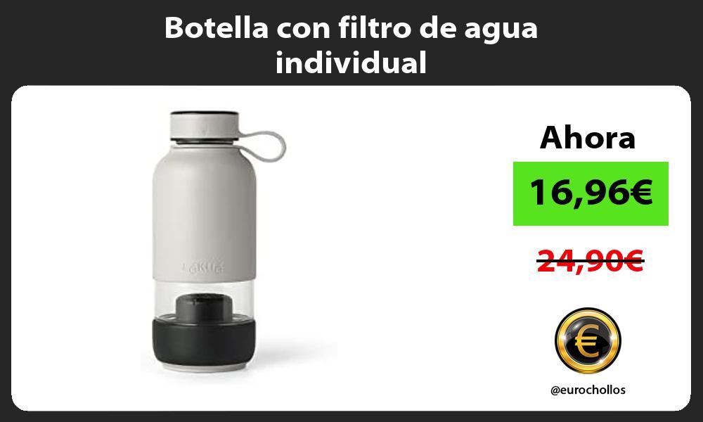 Botella con filtro de agua individual