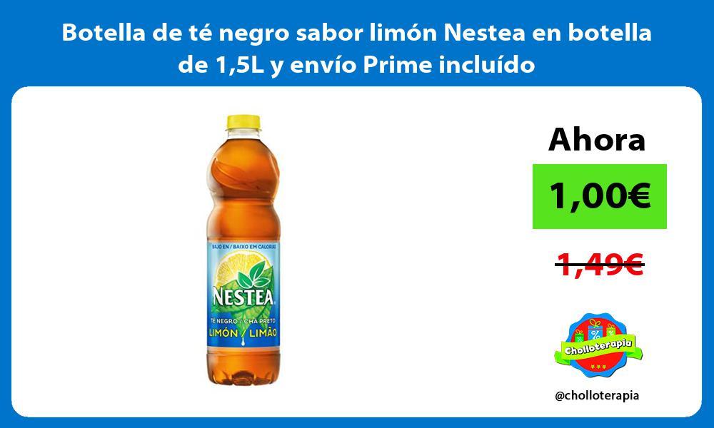 Botella de té negro sabor limón Nestea en botella de 15L y envío Prime incluído