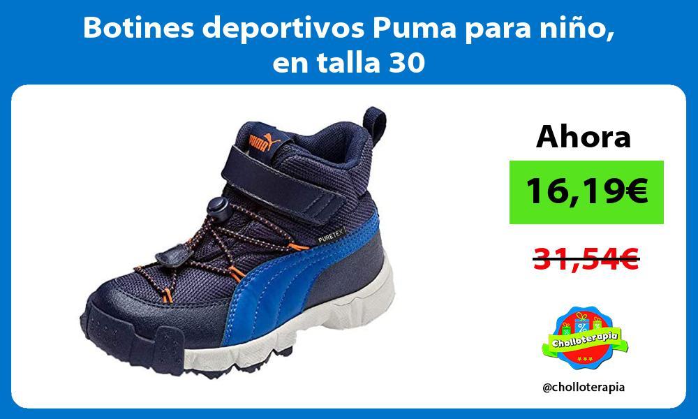 Botines deportivos Puma para niño en talla 30