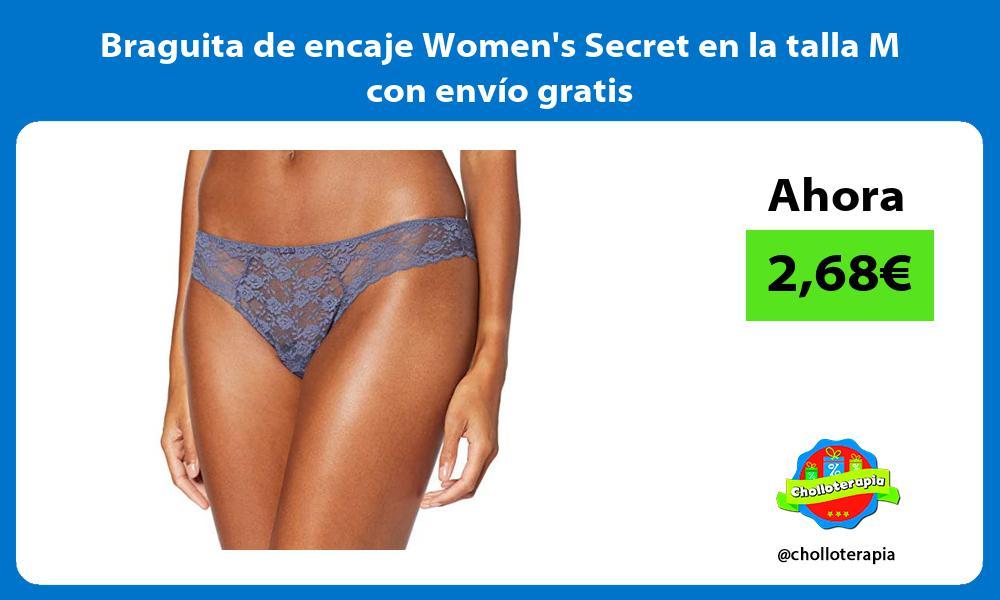 Braguita de encaje Womens Secret en la talla M con envío gratis