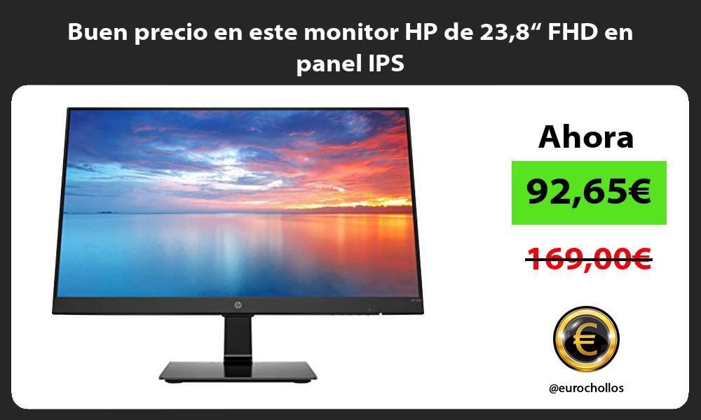 """Buen precio en este monitor HP de 238"""" FHD en panel IPS"""