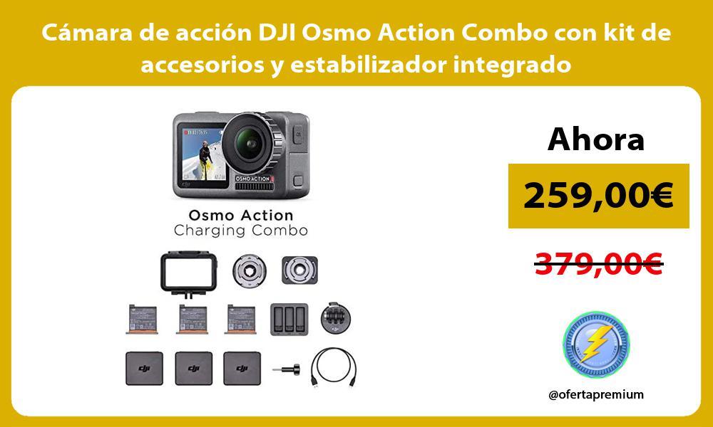 Cámara de acción DJI Osmo Action Combo con kit de accesorios y estabilizador integrado