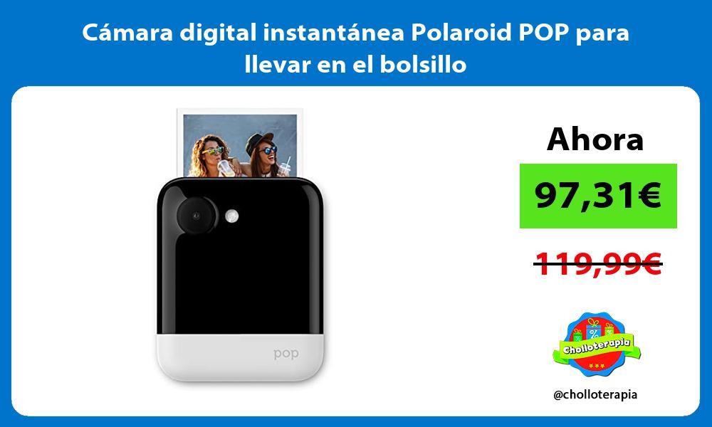 Cámara digital instantánea Polaroid POP para llevar en el bolsillo