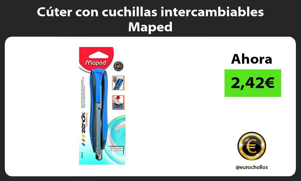 Cúter con cuchillas intercambiables Maped