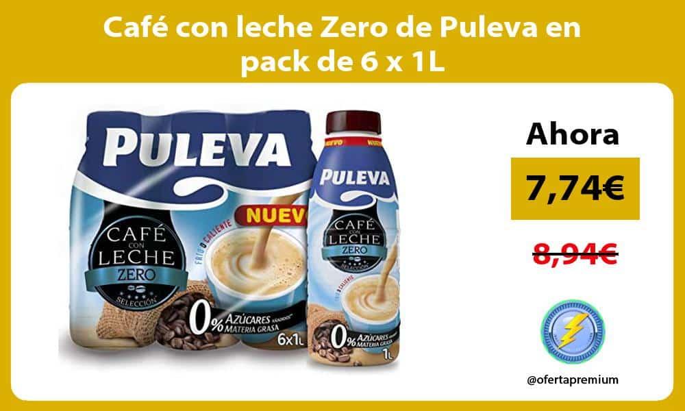 Café con leche Zero de Puleva en pack de 6 x 1L