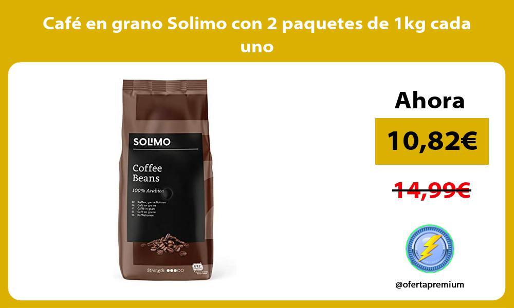 Café en grano Solimo con 2 paquetes de 1kg cada uno
