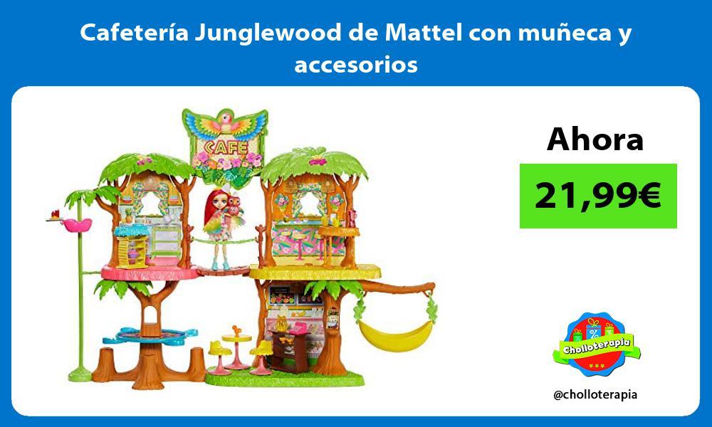 Cafetería Junglewood de Mattel con muñeca y accesorios