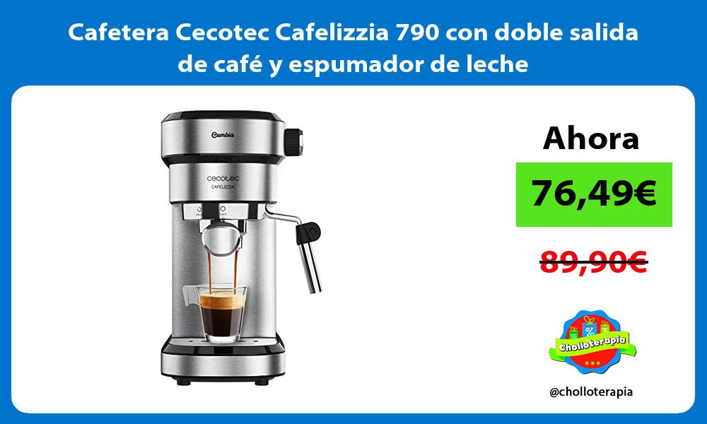 Cafetera Cecotec Cafelizzia 790 con doble salida de café y espumador de leche