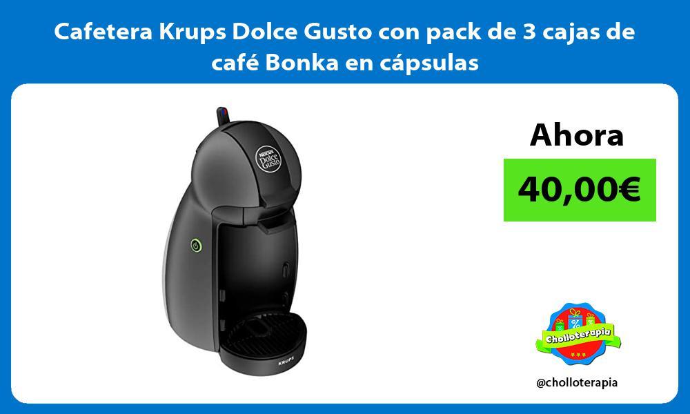 Cafetera Krups Dolce Gusto con pack de 3 cajas de café Bonka en cápsulas