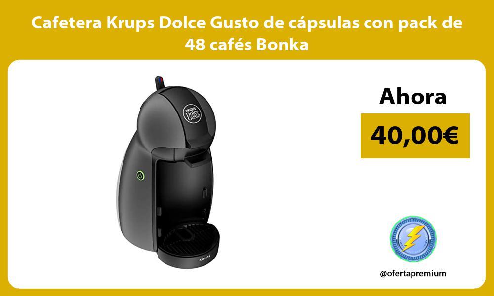 Cafetera Krups Dolce Gusto de cápsulas con pack de 48 cafés Bonka