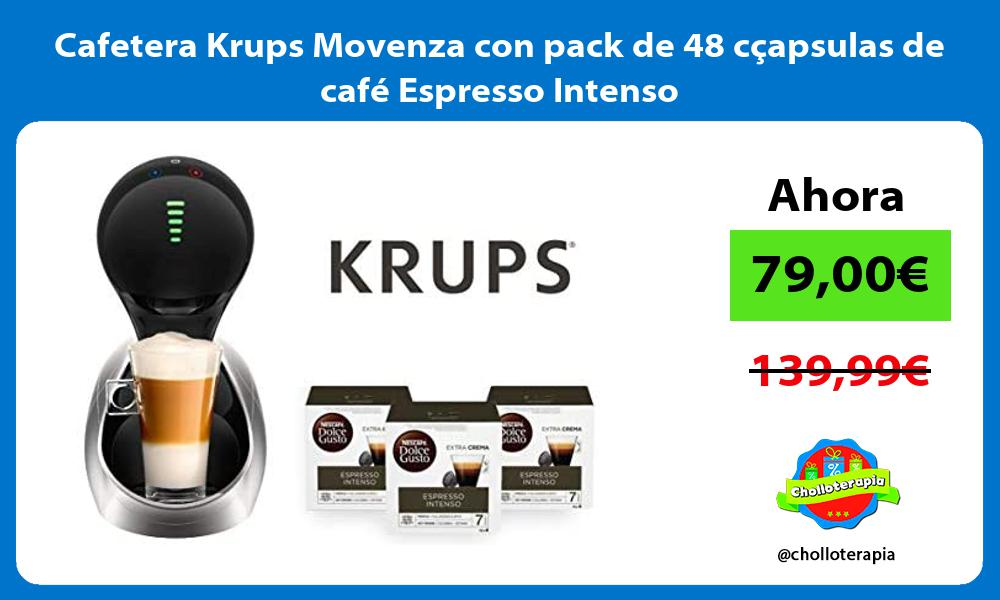 Cafetera Krups Movenza con pack de 48 cçapsulas de café Espresso Intenso