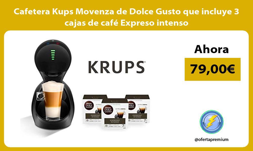 Cafetera Kups Movenza de Dolce Gusto que incluye 3 cajas de café Expreso intenso