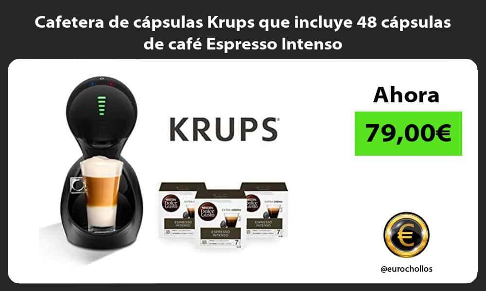Cafetera de cápsulas Krups que incluye 48 cápsulas de café Espresso Intenso