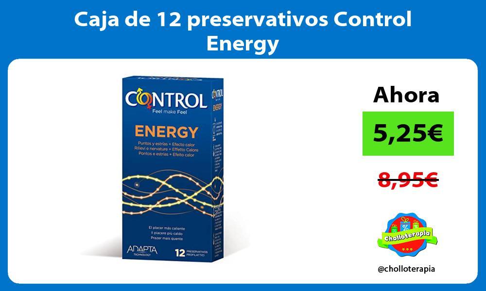 Caja de 12 preservativos Control Energy